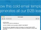 Best B2b Email Templates the Cold Email Template that Generates All Our B2b Leads