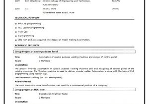 Best Resume Samples for Freshers Engineers Sample Resume Download Fresher Engineers Sample Resume