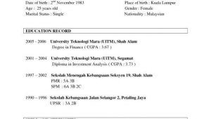 Best Sample Of Resume for Job Application Sample Resume Sample Resume Template for Job Application