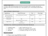 Best Simple Resume format In Word Simple Resume format In Word Bravebtr