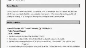 Best Simple Resume format In Word Simple Resume format In Word