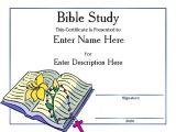 Bible Study Certificate Templates Award Certificate Templates