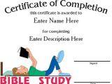 Bible Study Certificate Templates Bible Award Certificate Template Gallery Certificate