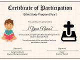 Bible Study Certificate Templates Bible Prophecy Program Certificate for Kids Design