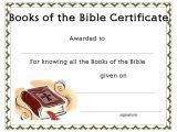 Bible Study Certificate Templates Www Certificatetemplate org Books Of the Bible Certificate