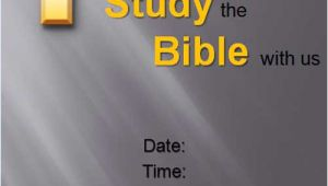 Bible Study Flyer Template Free Download Free Bible Study Flyer Templates