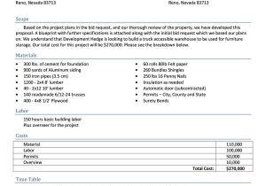 Bid Proposals Templates 31 Construction Proposal Template Construction Bid forms