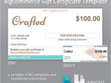 Bigcommerce Email Templates Bigcommerce Gift Certificate Email Email Templates On