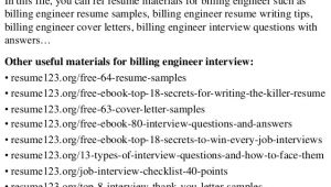 Billing Engineer Resume top 8 Billing Engineer Resume Samples