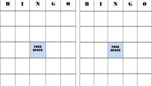 Bingo Blank Card Printable Free Free Blank Bingo Card Template In 2020 Bingo Template
