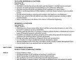 Biomedical Engineer Resume Biomedical Engineer Resume Samples Velvet Jobs