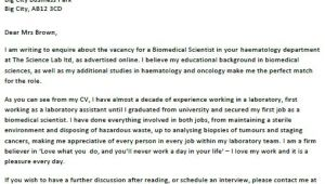 Biomedical Science Cover Letter Biomedical Scientist Cover Letter Example Icover org Uk