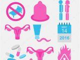 Birth Control Brochure Templates Contraception Methods Icon Set Birth Control Constructor