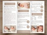 Birth Control Brochure Templates Newborn Photography Trifold Brochure Template Client