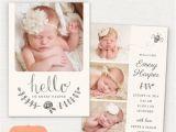Birth Notice Template Birth Announcement Template Pencil Bee Cb031 5×7 Card