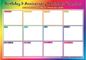 Birthday and Anniversary Calendar Template 17 Best Images About Birthdays and Annivsaries Calendars