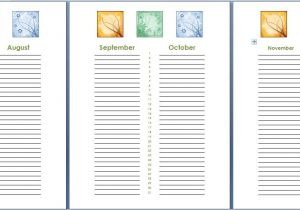 Birthday and Anniversary Calendar Template Birthday and Anniversary Calendar Template formal Word