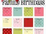 Birthday Calendars Templates Free Family Birthday Calendar Digital Copy You Print In Quot Ice