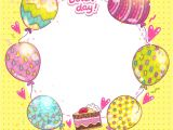 Birthday Card Background Design Hd Happy Birthday Background with Cake and Balloons Vector