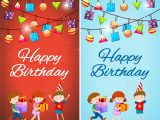 Birthday Card Design with Photo Two Designs Of Birthday Card Template with Kids and