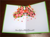 Birthday Card Flower Pop Up Azlina Abdul Double Star Loop Flower Pop Up Birthday Card