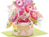 Birthday Card Flower Pop Up Beautiful Day Flower Bouquet 3d Pop Up Birthday Card