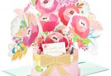 Birthday Card Flower Pop Up Blossoming Flower Bouquet Pop Up Birthday Card Greeting
