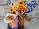 Birthday Card Flower Pop Up Flower Bouquet Birthday Card Handmade Pop Up Box Card