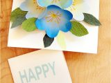 Birthday Card Flower Pop Up Free Printable Happy Birthday Card with Pop Up Bouquet