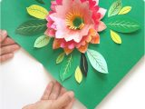 Birthday Card Flower Pop Up Make A Birthday Card with Pop Up Watercolor Flower Free
