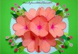 Birthday Card Flower Pop Up Seven Flowers Pop Up Birthday Card