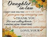 Birthday Card for Daughter In Law Mother to Daughter In Law Gave You My son Small Fleece Blanket 30 X 40 Size White