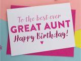Birthday Card Ideas for Best Friend Best Ever Great Aunt Great Auntie Birthday Card