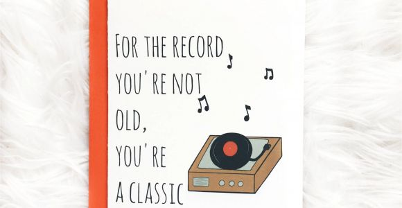 Birthday Card Record Your Own Message Classic Birthday Card Dad Birthday Card by Siyo Boutique