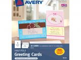 Birthday Card Template 8.5 X 11 Avery Half Fold Cards Perforated 5 12 X 8 12 White Pack Of