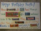Birthday Card Using Candy Bars A Huge Birthday Card Made with A Foam Board and Candybars