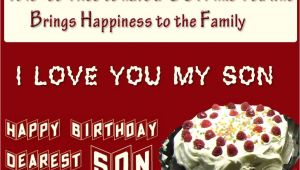Birthday Card Verses for son Happy Birthday son Images Birthday Wishes for son