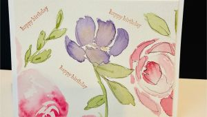 Birthday Card with Photo Editing Watercolor Greeting Card Happy Birthday Card Hand Painted