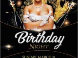 Birthday Club Flyer Template Free Birthday Gold Night Free Psd Flyer Template Download