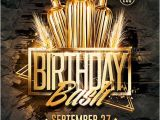 Birthday Club Flyer Template Free Gold Birthday Bash Psd Flyer Template Download Psd Flyer