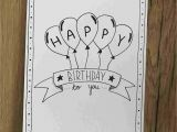 Birthday Diy Card for Him How to Draw A Happy Birthday Card Inspiration In