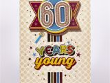 Birthday Wrapping Paper Card Factory Signature Collection Birthday Card 60 Years Young