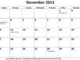 Blank Calendar Template November 2013 10 Best Images Of November 2013 Monthly Calendar Printable