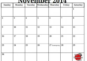 Blank Calendar Template November 2014 9 Best Images Of Printable November Monthly Schedule