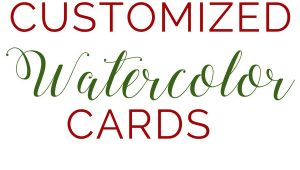 Blank Card Design Your Own Customizable Handmade Watercolor Greeting Cards Watercolor