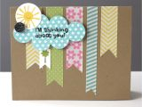 Blank Cards and Envelopes for Card Making Simple Thinking Of You Card with Washi Tape Washi Tape