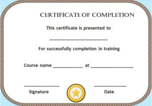 Blank Certificate Of Completion Template Certificate Of Completion 22 Templates In Word format