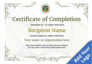 Blank Certificate Of Completion Template Certificate Of Completion Free Quality Printable