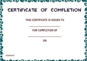 Blank Certificate Of Completion Template Certificate Of Completion Template 55 Word Templates
