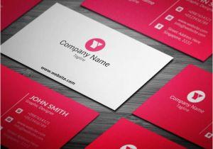 Blank Editable Business Card Templates Free Red Corporate Business Card Template Visitenkarten